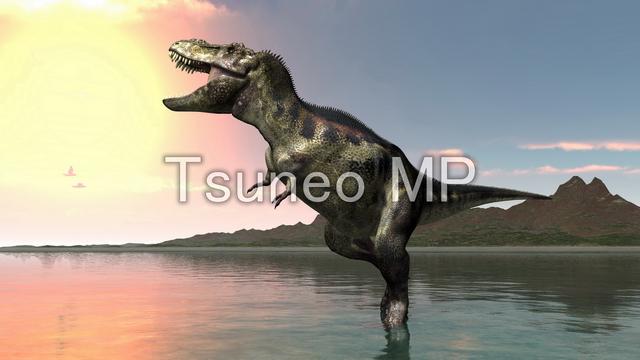 CG dinosaur illustrations