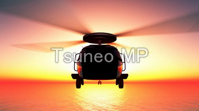 イラストCG ヘリコプター