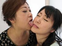 Fuji / Yuki: beauty wife's face licking