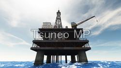 Illustration CG oil platform
