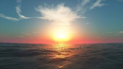 Sunrise-CG sea pictures