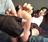 ①跡美しゅりちゃんの綺麗な足裏をとりあえずそのまま素足くすぐり