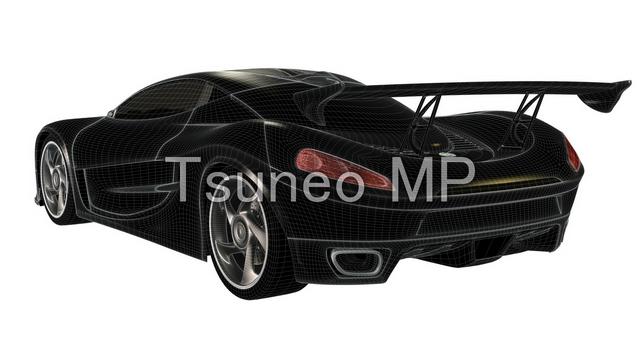 CG sports car illustrations