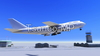 일러스트 CG 비행기