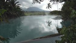 TORAGET hot spring, source of fountain Lake Blue Lake-5 Indonesia, Manado
