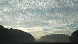 Satoyama clouds flow