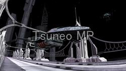 イラストCG 宇宙ステーション