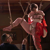 Shame of exotic white girl M, rope binding bondage training