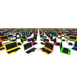 Colorful picture CG laptop